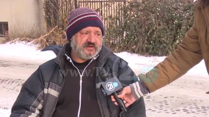 Без дом на поларен студ   Маж остана без засолниште