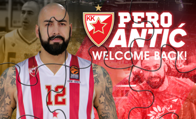 Перо Антиќ пак ќе игра за Црвена ѕвезда