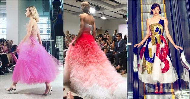 Оскар де ла Рента ги промовираше фустаните за идната пролет