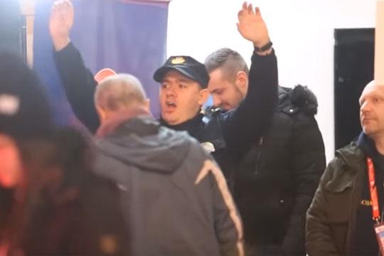 Полицаец шизеше среде Загреб